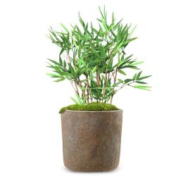 Bambou Artificiel Arbre en pot finition mousse verte H 60 cm