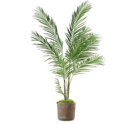 Areca Artificiel Palmier en pot plastique deco H 160 cm