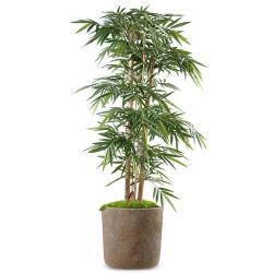 Bambou Artificiel Arbre en pot grosses cannes H 150 cm